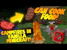 "Minecraft Redstone ""CAMPFIRE IN MINECRAFT"" No Command Blocks Needed! (Minecraft Redstone) - YouTube"