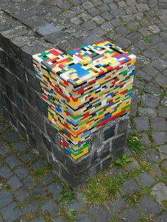 Mur reconstruit en lego à Arnsberg