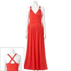 Eci ruched side striped maxi dress