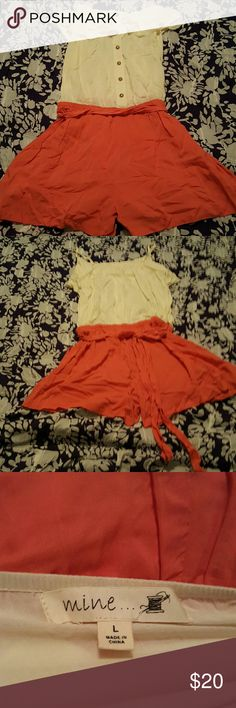 Romper Macys, worn once. Can be worn casual or dressed up. Large but I'm a small woman so this is I would say a small almost medium. Mine Other