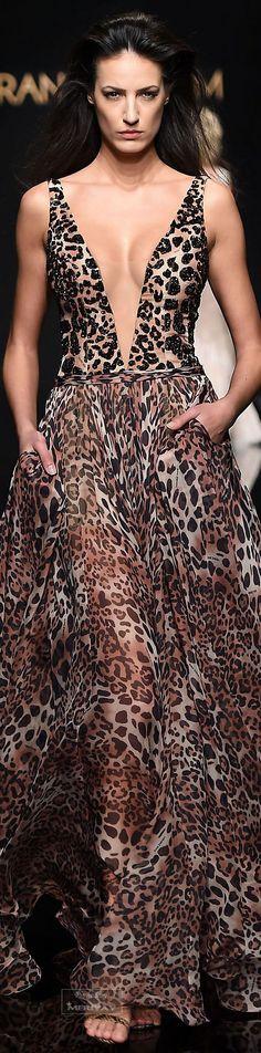 Wild animal prints / karen cox. Rani Zakhem .Spring-summer 2015 - Couture.