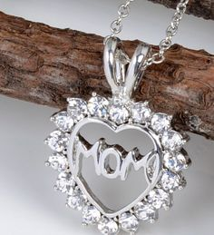 Heart Mother Necklace with CZ Stones Mother Necklace, Cz Stones, Trendy Jewelry, Vintage Earrings, Mom, Diamond, Heart, Fashion Jewelry, Diamonds