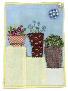 Sharon Blackman. Gentle interpretations of the simplest things, lovely fabric choices for appliqué.
