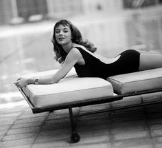 Glamour girl Vikki Dougan poses in a backless bathing suit, photo by Ralph Crane, Beverly Hills, 1958. More hair inspiration!