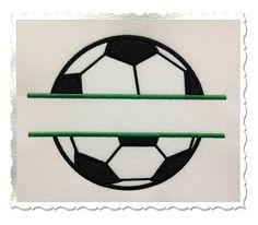 Applique Split Soccer Ball Machine Embroidery Design - Rivermill Embroidery