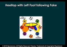 SoccerMat drill for today for exercising and developing sports skills with a soccer ball— Sequence: Heeltap with Left Foot following Fake (Level Intermediate)