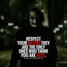 Quotes for Motivation and Inspiration QUOTATION - Image : As the quote says - Description Likes, 5 Comments - Joker Quotes ( on Joker Qoutes, Joker Frases, Best Joker Quotes, Badass Quotes, Epic Quotes, Dark Quotes, Strong Quotes, True Quotes, Positive Quotes