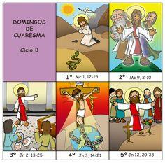 Dibujos para catequesis: DOMINGOS CUARESMA - Ciclo B