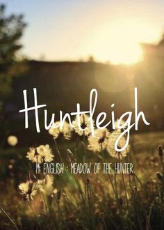 If i were to have a girl...Huntleigh - beautiful baby girl name! Pronounced: Hunt-Lee or Hunt-Lay