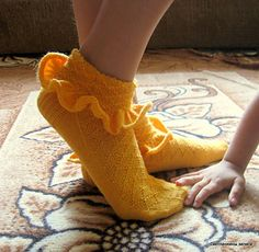 """Formerly known as the """"Solid Socks Mystery KaL June 2013"""" - these are an adult Bobby Sock!"""