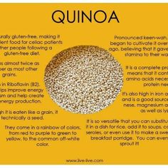 Quinoa, Cooked quinoa and Quinoa recipe on Pinterest