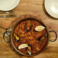 When in Spain. Paella is the first thing we order. And a beer offcourse.  Salud!  #paella #Malaga #LaBouganvilla #PlazaCarbon