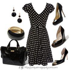 Polka Dot Dress - Polyvore