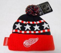 NHL Reebok Detroit Red Wings 2-4T Toddler Knit Beanie Cuffed Pom Hat by Reebok. $16.99. Official NHL Reebok