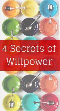 4 Secrets of Willpower