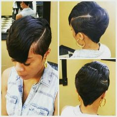 Bob hairstyles are a classic look that has been in fashion for ages, and is sure to continue to be popular look for many years to come! It can be bold, wild and bold look for those who are not afraid to… Continue Reading → Short Sassy Hair, Girl Short Hair, Short Hair Cuts, Pixie Cuts, Short Pixie, Curly Pixie, Cute Hairstyles For Short Hair, Girl Hairstyles, Curly Hair Styles