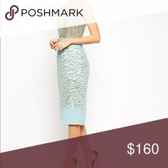 99bbe9ea9eec Shop Women s ASOS Gold Blue size 4 Midi at a discounted price at Poshmark.  Description  Perfect condition ASOS Red Carpet Midi  no sequins missing .