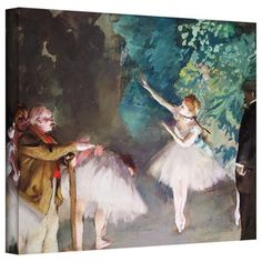 Edgar Degas 'Ballet Rehearsal' Gallery-Wrapped Canvas