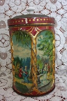 Gorgeous Vintage Cookie Tin
