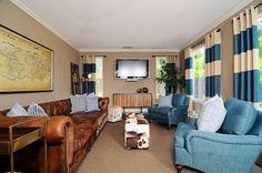 Blue Contemporary Living Room Designs   Latest Trends In Interior Design