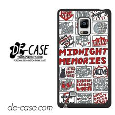 One Direction Midnight Memories Collage Arts DEAL-8243 Samsung Phonecase Cover For Samsung Galaxy Note Edge