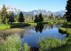 by itucker on Flickr.  Schwabachers Landing in Grand Tetons National Park - Wyoming, USA.