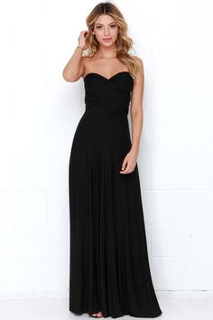 Tricks of the Trade Black Maxi Dress... this is convertible!