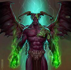 Demon Do Fantasy, Fantasy Demon, Fantasy Images, Demon Artwork, Cool Artwork, Magical Creatures, Fantasy Creatures, Angel Demon, Creepy Monster