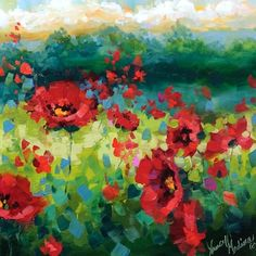 Nancy Medina Art: Rainy Day Poppies Part 2 - Flower Paintings by Nan...