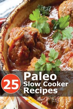 Sick of cooking? Here are 25 easy and delicious Paleo slow cooker recipes. Click… Sick of cooking? Here are 25 easy and delicious Paleo slow cooker recipes. Click the images to get your recipes! Paleo Recipes, Slow Cooker Recipes, Real Food Recipes, Cooking Recipes, Paleo Crockpot Meals, Paleo Food, Clean Eating Recipes, Healthy Eating, Healthy Foods