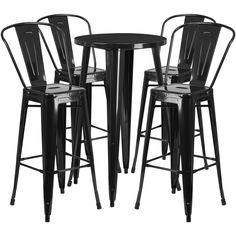 """Flash Furniture 24"""" Round Bar Set"""