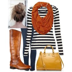 A fashion look from September 2013 featuring Koral jeans, Frye boots and Tory Burch tote bags. Browse and shop related looks.