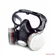 Respirator dust gas mask with glasses Labor insurance supplies Eyes nose and mouth conjoined Safety glasses protective mask