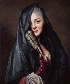 부채를 든 여인 - 알렉산더 로슬린  1768. 스톡홀름 국립 미술관.  작품의 주인공인 프랑스식으로 옷을 입은 젋은 부인은 화가의 부인인 마리 쉬잔입니다. 당시 왕가 컬렉션의 특징적인 주제는 흥미로운 표정을 짓거나 특이한 장식품으로 꾸민 젊은 여성들의 초상화 시리즈였습니다. 부끄러운듯이 짓는 미소가 여인을 더 사랑스럽게 하는 것 같네요.