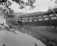 HMS Conway beached in Menai Straights - Old Pictures, Old Photos, Liverpool Docks, Old Sailing Ships, Song Of The Sea, Rail Transport, Abandoned Ships, Man Of War, Old Boats
