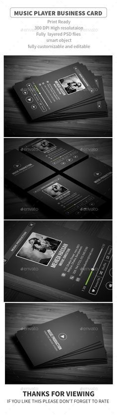 Phone Music Business Card Card Templates Business Cards And Business