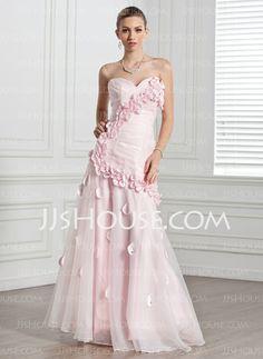 Evening Dresses - $169.99 - A-Line/Princess Sweetheart Floor-Length Organza Evening Dress With Ruffle Flower(s) (017005271) http://jjshouse.com/A-Line-Princess-Sweetheart-Floor-Length-Organza-Evening-Dress-With-Ruffle-Flower-S-017005271-g5271