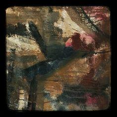 Large abstract oil on canvas, artist Don Watson.