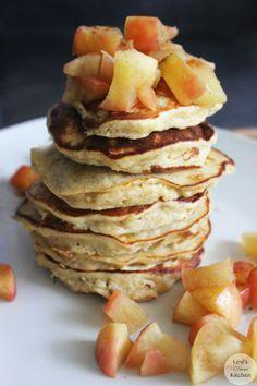 Baked Cinnamon Apple Protein Pancake | Lexiscleankitchen.com