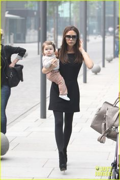 Victoria Beckham and Harper - Beijing, China     Credit: SplashNewsOnline