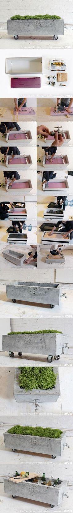 41 Super ideas for garden furniture concrete planters Concrete Crafts, Concrete Art, Concrete Projects, Concrete Design, Concrete Planters, Wall Planters, Succulent Planters, Concrete Garden, Succulents Garden