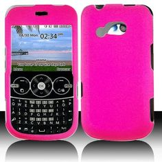 LG 900G for Stright Talk  Net 10 Accessory - Rubber Pink Hard Case Proctor Cover