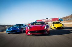 2014 Chevrolet Corvette Stingray Z51 vs. 2014 Ferrari F12 Berlinetta vs. 2013 Porsche 911 Carrera 4S - Motor Trend