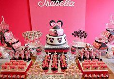 Minnie: ideias para decorar uma festa infantil com a personagem da Disney. #decoração