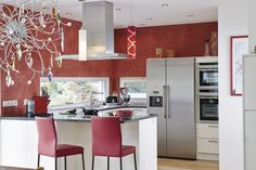 #kueche #farbakzent #design #rot #kitchen