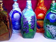 "Декор бутылок для любимого человека. Декупаж бутылки Мастер класс DIY ""Decorative glass bottles"" - YouTube"