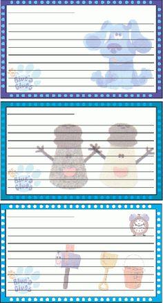 Blues Clues Recipe Cards, Recipe Cards, Recipe Cards - Free Printable Ideas from Family Shoppingbag.com