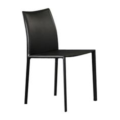餐椅 实木框架+皮艺软包 Y810 W460*D550*H840 mm