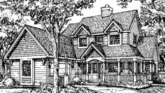 Country House Plan with 3233 Square Feet and 4 Bedrooms from Dream Home Source | House Plan Code DHSW73212