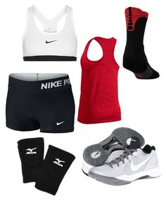 volleyball by syd-squid-1 on Polyvore featuring polyvore, fashion, style, NIKE, Mizuno and clothing